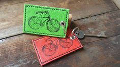 Leather Keyring,Leather Keychain,Leather Keyholder, Cycling Gift,Handmade Leather Keyring by Marcyniuk on Etsy
