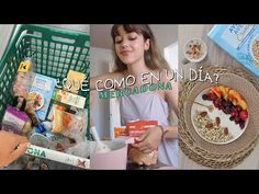 Un día comiendo con productos de Mercadona y sus NOVEDADES! l Realfooding - YouTube Cocina Natural, Healthy Recipes, Healthy Food, Cereal, Veggies, Pasta, Snacks, Breakfast, Youtube