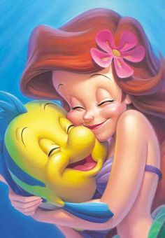 ariel and flounder - makes me smile :)