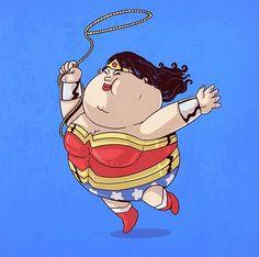 Fat Superheroes Character Designs by Alex Santos