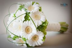 wedding flower bouquet with white sunflowers | iPunya