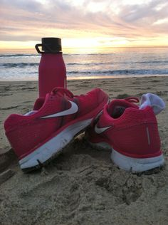 switch up your workout routine! try running on the beach