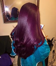 Colorful Hair Looks to Inspire Your Next Dye Job Weave Hairstyles, Pretty Hairstyles, Straight Hairstyles, Love Hair, Gorgeous Hair, Curly Hair Styles, Natural Hair Styles, Hair Laid, Purple Hair