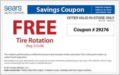 18 Best Sears Tire Coupons 2017 Images On Pinterest September 2013