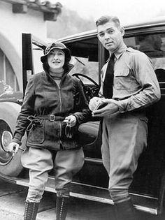 Clark Gable and first wife, Josephine Dillon