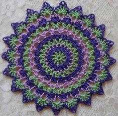 PDF Crochet Pattern Mini Mandala Doilies 12 different Cotton Crochet, Thread Crochet, Crochet Yarn, Crochet Coaster, Crochet Mandala Pattern, Crochet Doilies, Crochet Patterns, Dress Patterns, Mini Mandala