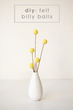 DIY felt billy balls - for felt bouquet (tutorial) | Someting Turquoise