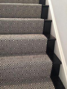 "Clifton Carpets, Dallas TX | Look At This Beautiful Custom Stair Runner! ""Black Diamond"" by Momeni!"