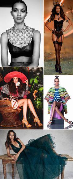 Modelos brasileiras Lais Ribeiro em campanhas e desfiles