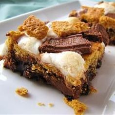 S'more Brownies | Delicious! I consider myself more of a gourmet cook and thought of this as a great kids recipe, because they are so easy to prepare. Well, surprise, surprise. They are fabulous and everyone raves!