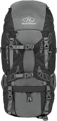 """Großartig  The Discovery 45l is a lightweight trekking rucksack with an Airmesh back system, padded hip belt and shoulder straps. With a large main compartment with draw cord divider you can pack away gear and have ease of access. The bag also features multiple outer pockets, walking/ice axe loop and lid storage compartment. Ideal for hillwalking or climbing and has a highly visible integrated rain cover for extra protection.. """"45 Liter Discovery Rucksack von Highlander - Leichter… Lid Storage, Storage Compartments, Camping, Axe, Shoulder Straps, Discovery, Cord, Divider, Draw"""