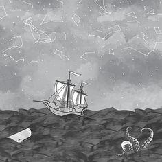 Hawthorne Threads - Mariner - Sailors Delight Border in Nightfall