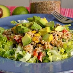 A vegan taco salad made with bulgar wheat.