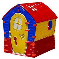 Plastic Playhouse, Build A Playhouse, Playhouse Outdoor, Outdoor Play, Indoor Outdoor, Cardboard Playhouse, Cardboard Toys, Cardboard Furniture, Blue Yellow