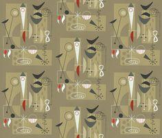 El Gato Gomez fabric on Spoonflower - OMG!!!!!!
