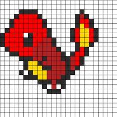 Fire Dragon Perler Bead Pattern