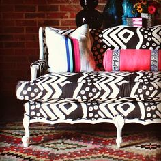 Bisous Chic: Patterned Couch