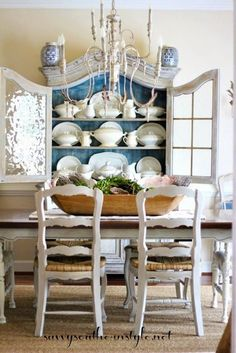 Stunning Fancy French Country Dining Room Decor Ideas 21