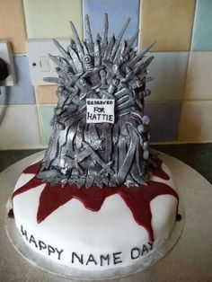 Game of Thrones cake!  http://diply.com/1000000-pictures/12-game-thrones-cakes-that-are-so-rad-youll/33648/1