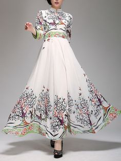 Summer chiffon long dress lady women dress SSY147 by handok, $88.00