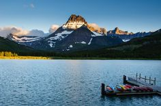 Sunrise at Glacier National Park, Many Glacier©Rhonda Adkins 2013