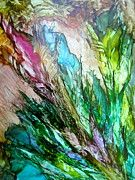 Alcohol Ink Paintings - Reaching for the Sun by Alexis Bonavitacola