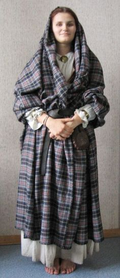 """""""Arisaid"""" was the earliest form of women's dress in Scotland. Scythian-Celt connection: plaid"""