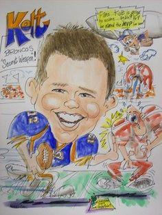Athletic cartoon art, Artist Bill Crowley