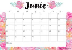 Calendario gratuito imprimible y descargable junio 2016 #printable