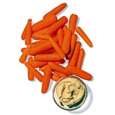 carrots (30 calories for 85 grams) and hummas (I use 120 calorie individually packaged portions) = 150 calories