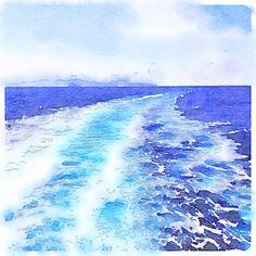 파도 painted in  #waterlogue