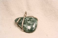 Seraphinite and Sterling Silver Pendant by QuietMind on Etsy, $56.00