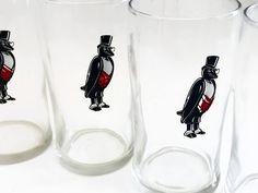 Vintage Libbey Old Crow Glasses - Vintage Libbey Whiskey Glasses - 1950s Glasses - Old Crow Whiskey Collectibles by VintageModernHip on Etsy