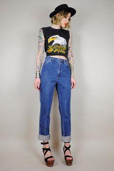 90's High waist Boyfriend jeans    NOIROHIO VINTAGE
