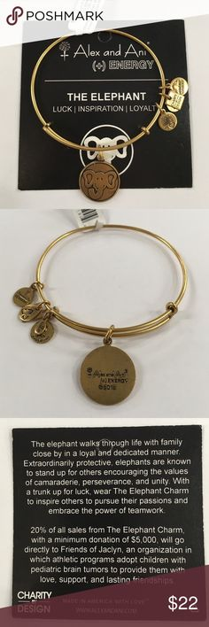 Alex & Ani Elephant charity bangle Authentic and brand new with tags and meaning card! Alex & Ani Jewelry Bracelets