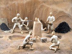 Yamato.  Matalurgía, los yayoi importaron y desarrollaron la fundición de bronce y hierro de corea. Objetos ceremoniales de bronce y armas y herramientas de hierro.