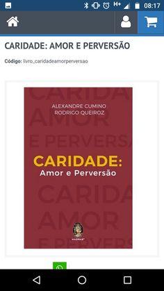 """""""Caridade: Amor e Perversão"""" de Alexandre Cumino e Rodrigo Queiroz"""
