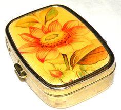 Vintage Pill Box Sunflower Pill Caddy by RosePetalResources, $30.00