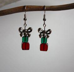 Swarovski Crystal Christmas Present Earrings by DRaeDesigns, $14.00
