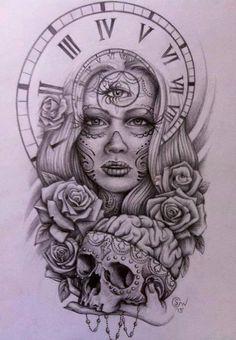 La cantidad de detalles que tiene este dibujo es ideal para un bordado o una estampa
