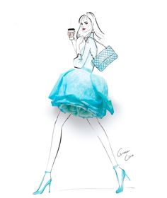 #Summertime #PurseBeauty @grace_ciao #FashionIllustrations| Be Inspirational ❥|Mz. Manerz: Being well dressed is a beautiful form of confidence, happiness & politeness