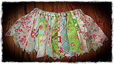 Rag Tutu Easter Shabby Chic Skirt Infant Toddler by Delilahkaye