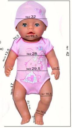 Puppenkleidung 36cm Pink Strampler little Baby Born Kleider Kleidung Klamotten Kleidung & Accessoires