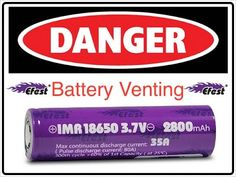 Efest 18650 Battery Venting at 14Amp and Exploded