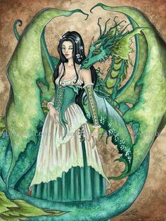LAST ONES Dragon Print by Amy Brown