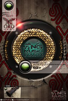 PNG MUSIC Industry Speaker Modified,  Nuts - Technology plus | woven mat traditional pattern combo and Tapa Backdrop  ORO MADE Promoting Music through Graphics   All rights reserved Bau Gabii Toma | Aprod Graphic Designers | DMC