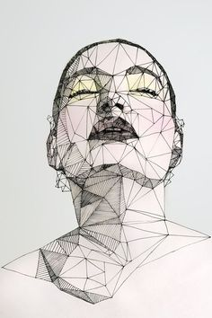 Latest Images geometric portrait drawing Strategies There are several strategies to painting portraits. Several which in turn perform quite nicely also manage to secret th Geometric Drawing, Geometric Art, Art Sketches, Art Drawings, Frida Art, Triangle Art, Polygon Art, Art Mural, Art Plastique