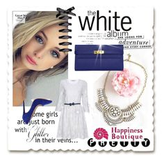 """""""The White Set"""" by samantha-hbtq ❤ liked on Polyvore featuring Hermès, Liliana, Kate Spade, white, WhiteandNavy and happinessbtq"""
