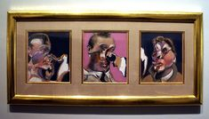 Francis Bacon, Three Studies for Portraits Including Self-Portrait, 1969.