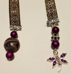 Jacquard Ribbon 1/2 Inch Purple  Butterfly  by MJJewelryAdventures